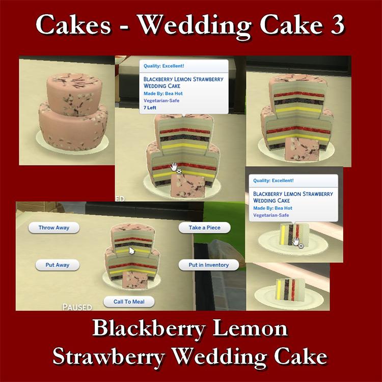 Blackberry Lemon Wedding Cake TS4 CC