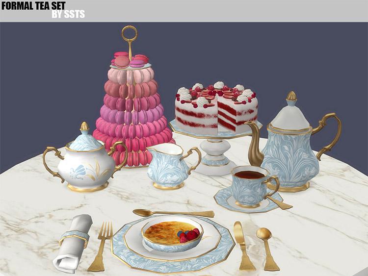 Formal Tea Set CC with Cake