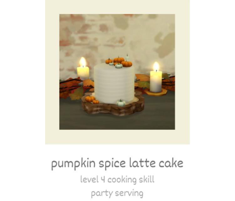 Pumpkin Spice Latte Cake TS4 CC