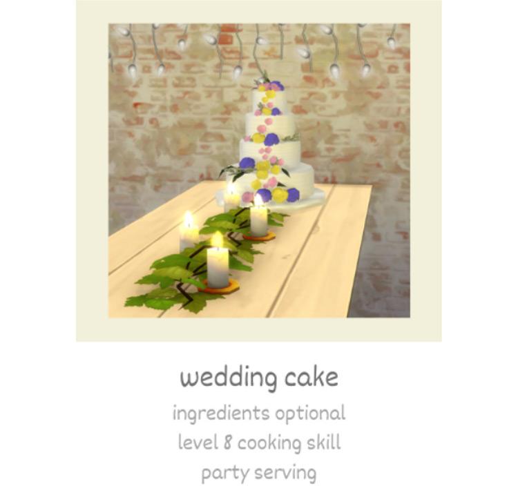 Wedding Cake Sims 4 CC screenshot