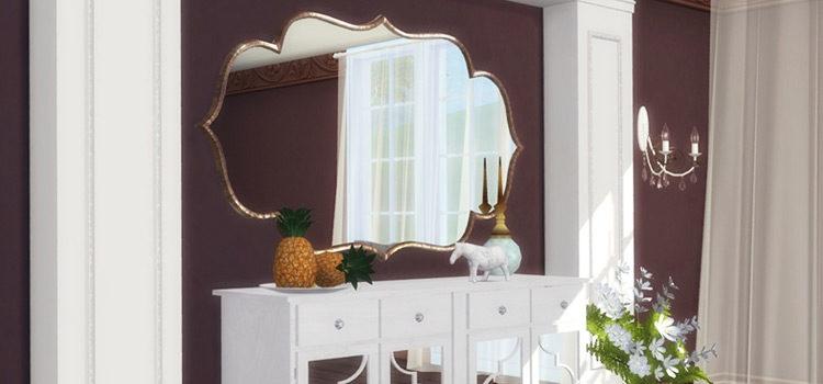 Sims 4 Custom Mirror CC (Wall & Floor Mirrors)