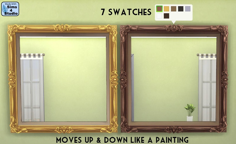 Large Ornate Mirror for Sims 4