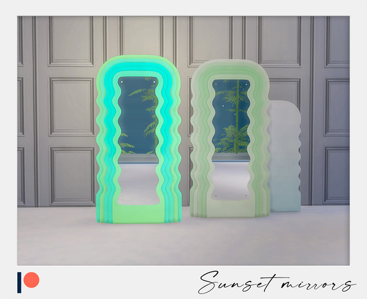 Sunset Mirrors Sims 4 CC