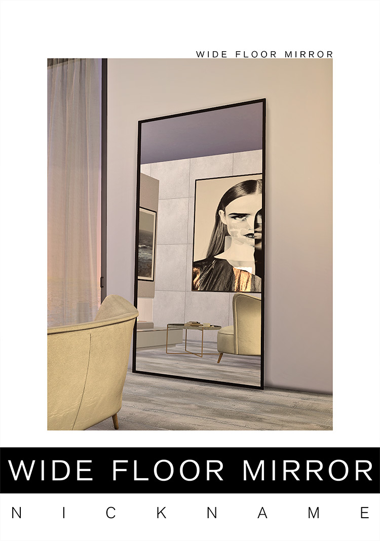 Wide Floor Mirror Sims 4 CC