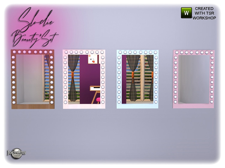 Slodie Makeup Wall Mirror TS4 CC