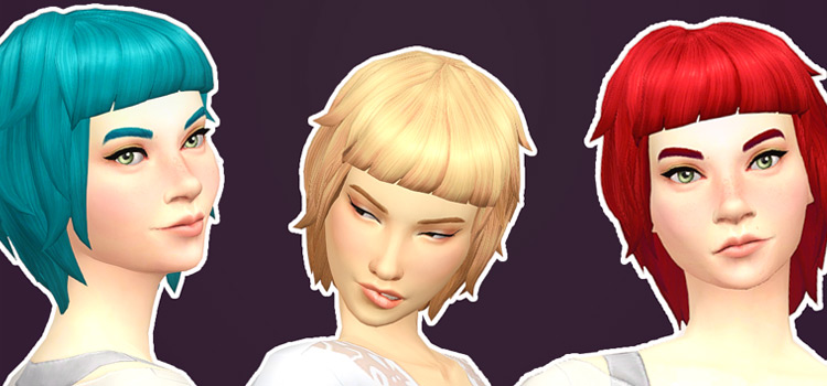 Evelyn Sims 4 Mullet Hairdo CC