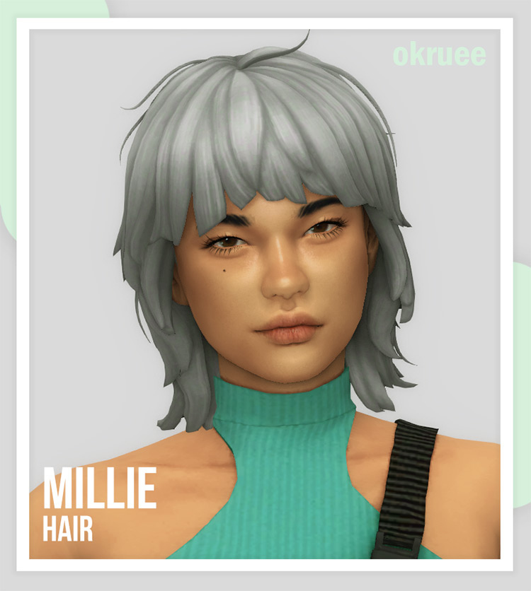Millie Hair Sims 4 CC
