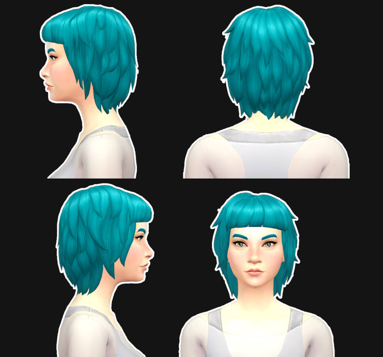 Evelyn Hair Sims 4 CC