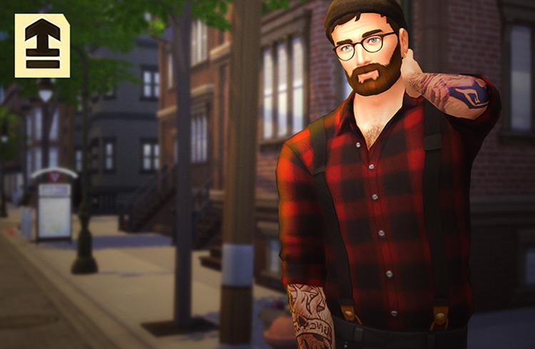 Suspender Shirts Sims 4 CC