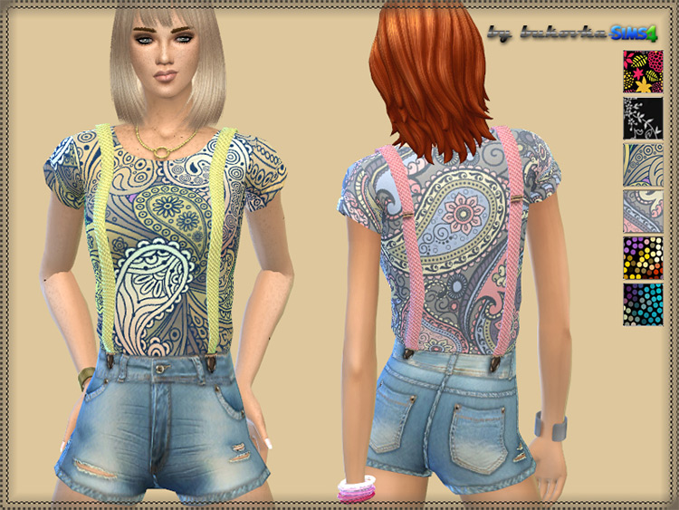Jumpsuit and Suspenders TS4 CC