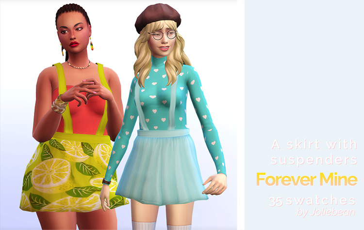 Skirt with Suspenders for Sims 4