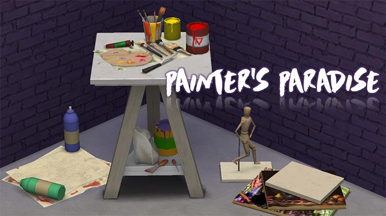 Painter's Paradise Clutter TS4 CC