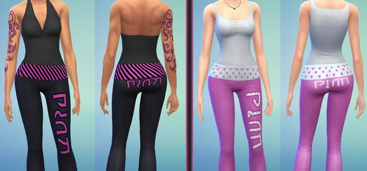 Simlish Yoga Pants CC for The Sims 4