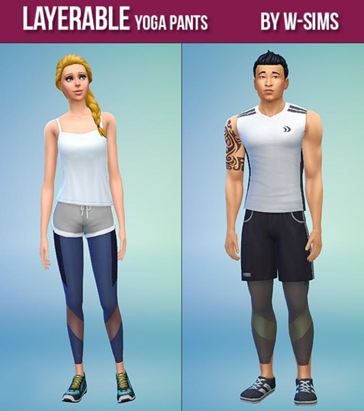 Layerable Yoga Pants (Guys and Girls) TS4 CC