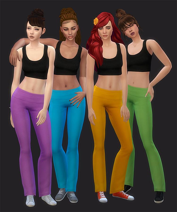 Base Game Yoga Pants Recolors TS4 CC