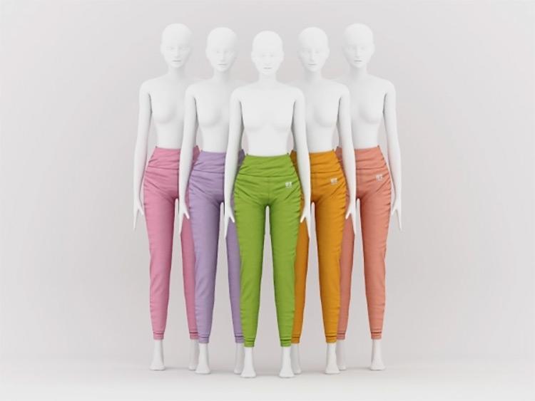 Elastic Yoga Pants Sims 4 CC