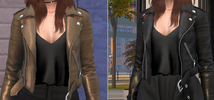 Best Sims 4 Leather Jacket CC (Male + Female)