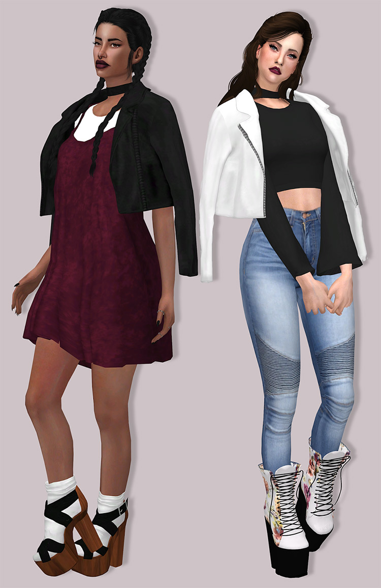 Leather Jacket Accessory Sims 4 CC
