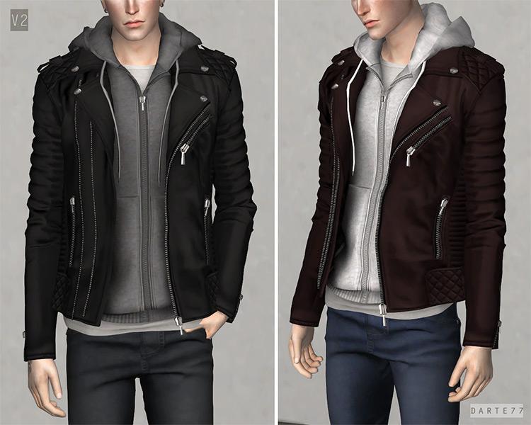 Biker Jacket w/ Hoodie TS4 CC