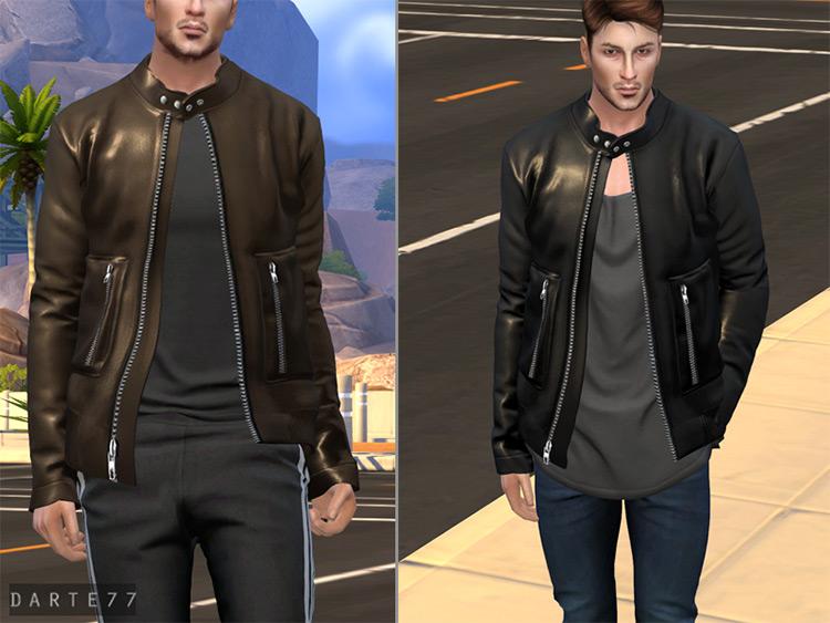Racer Jacket for Men - Sims 4 CC