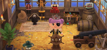 Pirate Ship Room Design in New Horizons