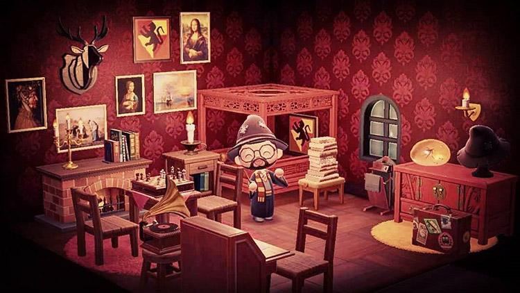 Gryffindor Dorm Interior Idea for ACNH