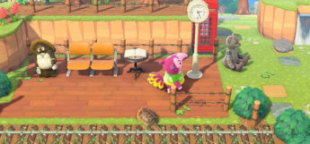 Train Station Design with Snooty Anteater Villager in New Horizons