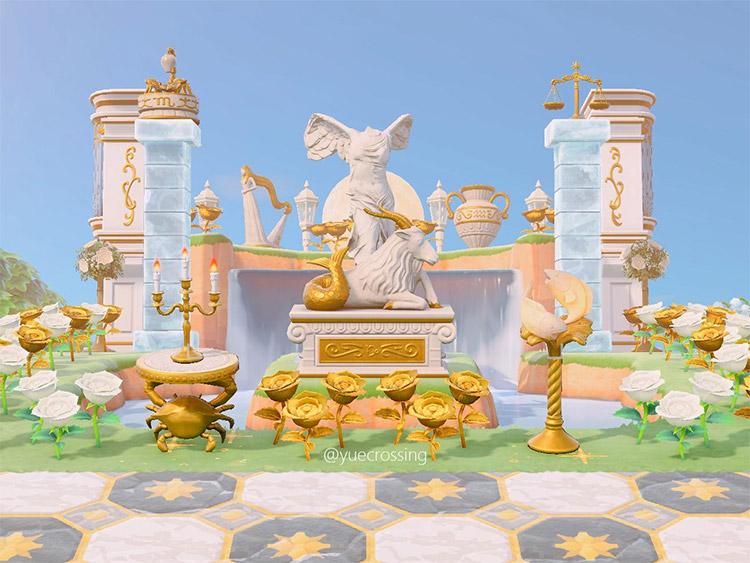 Zodiac statue area in New Horizons