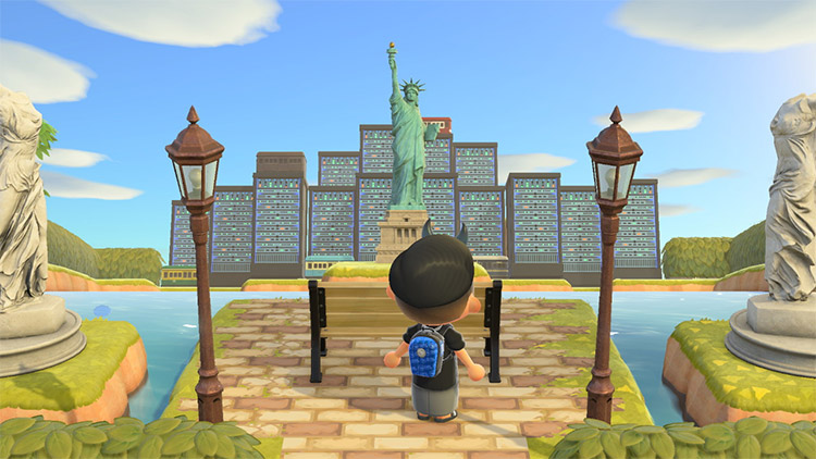 Statue of Liberty Cityscape in New Horizons