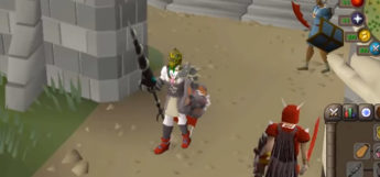Dragon Hunter Lance close-up in Old School RuneScape