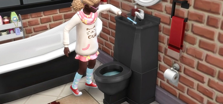 Toilet and Sink Combo in The Sims 4