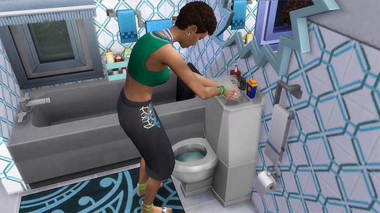 Modern Toilet/Sink Combo TS4 CC