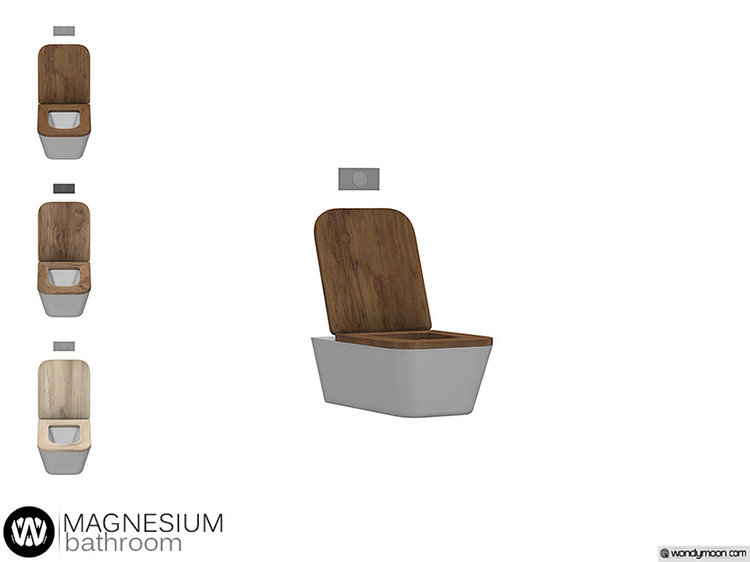 Magnesium Toilet for Sims 4