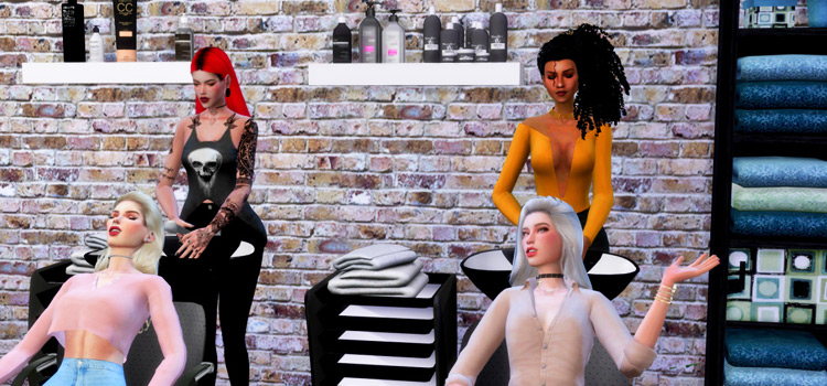 Beauty Salon Poses in The Sims 4