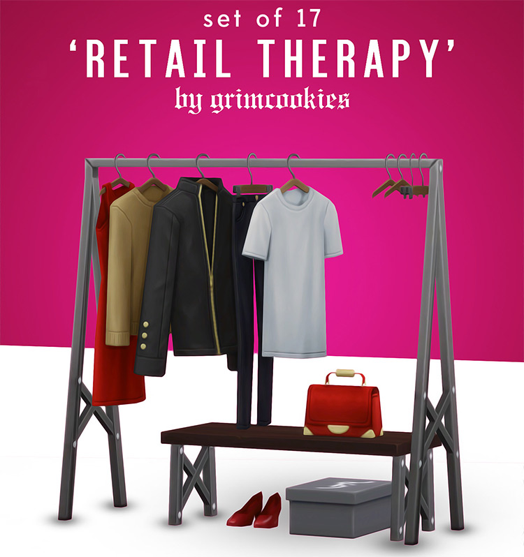 Grimcookies' Retail Therapy Sims 4 CC