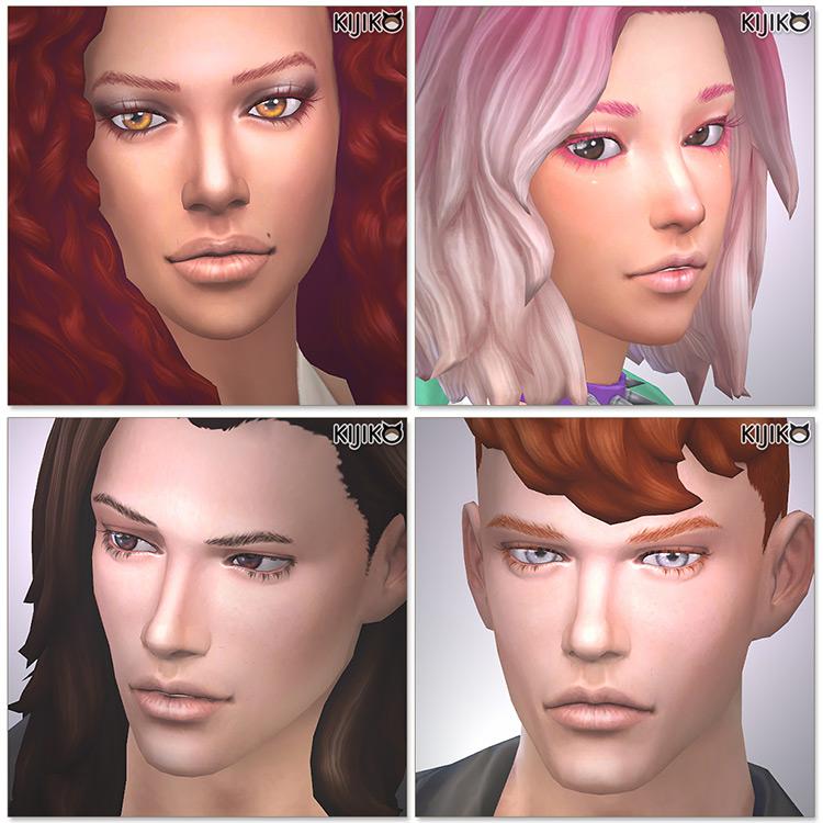 Kijiko's 3D Lashes Sims 4 CC screenshot