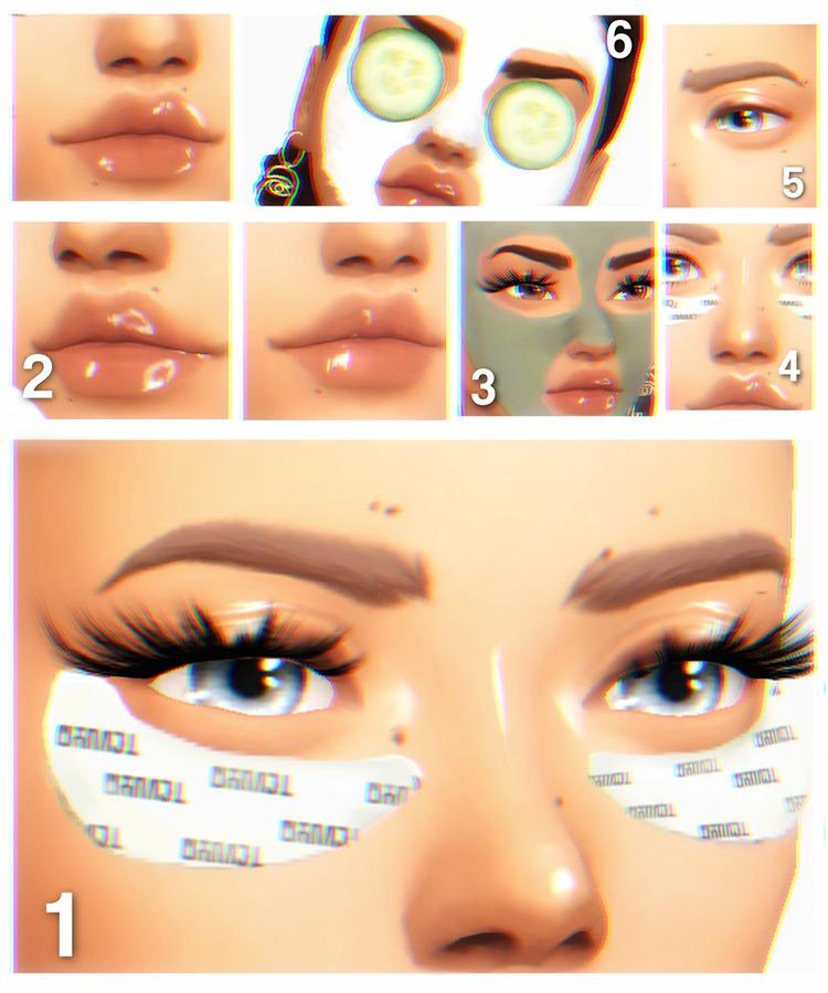 Caesarsims' Sunday Nights Skincare Set TS4 CC
