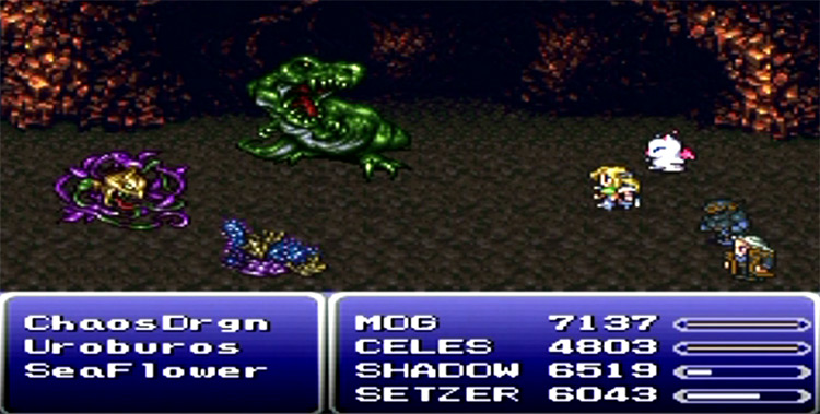 Phoenix Cave (World of Ruin) FF6 Screenshot