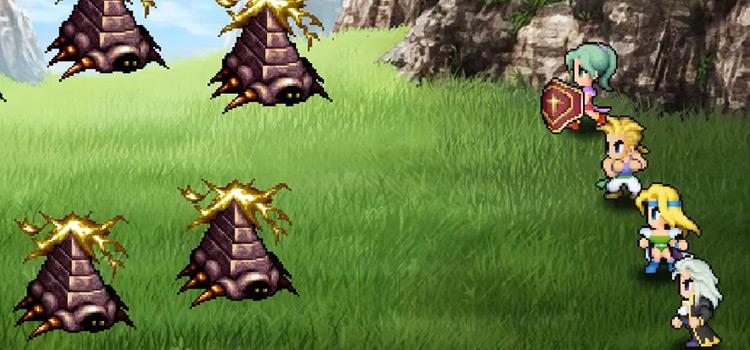 Genji Shield in Battle - FF6 HD Screenshot