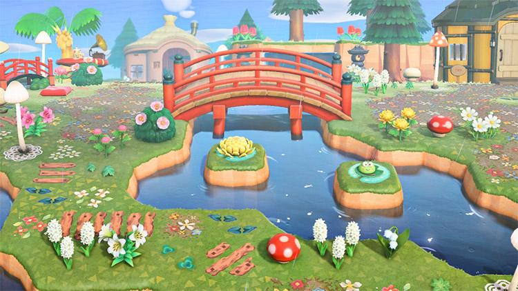 Garden Swamp Pond Idea in ACNH