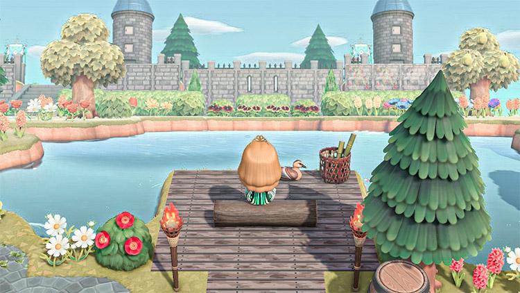 Castle-side Lake Idea in ACNH