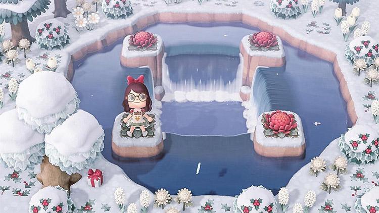 Waterfall Lake Wintertime Idea - New Horizons Idea