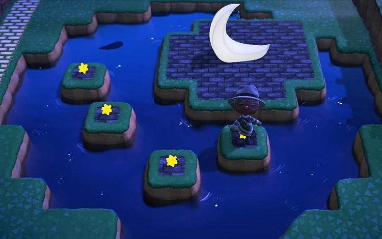 Moonlight Pond Design in ACNH
