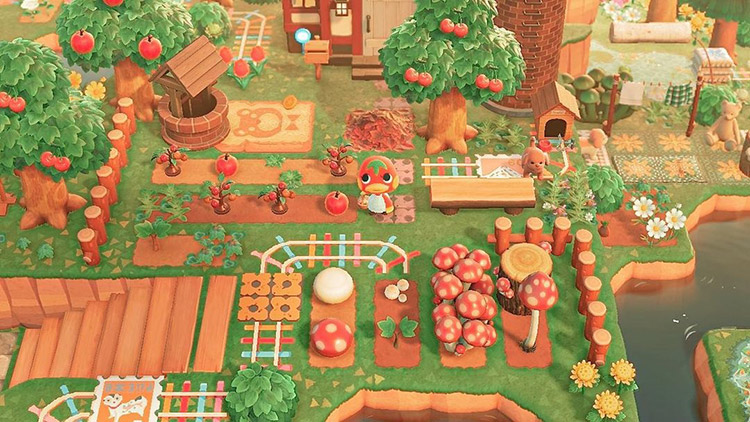 Ketchup villager tomato patch design in ACNH