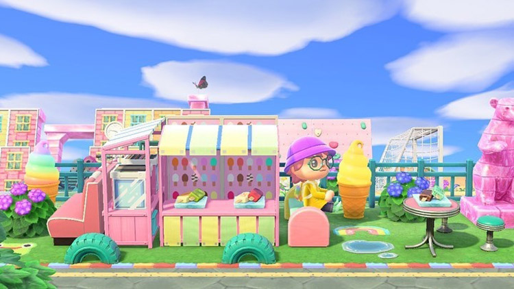 Kidcore custom ice cream truck in ACNH
