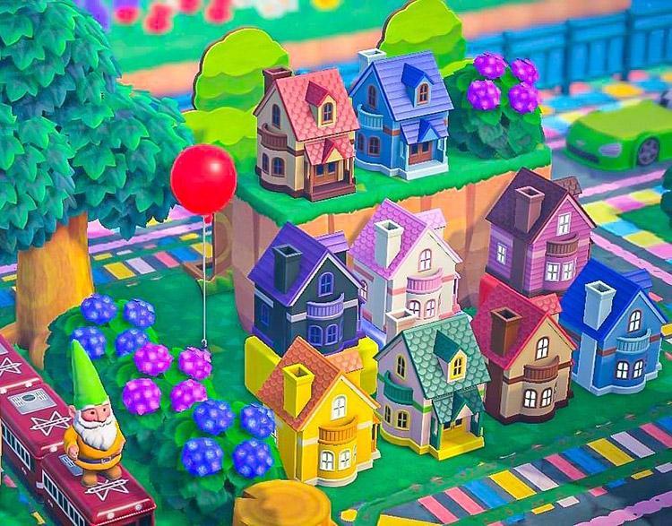 Small houses in a gummi bear village - ACNH Idea