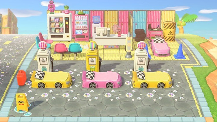 Kidcore gas station idea for ACNH