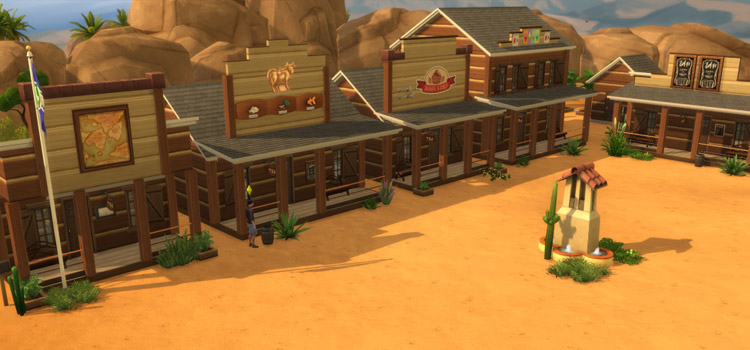 Old West Town Area in Sims 4