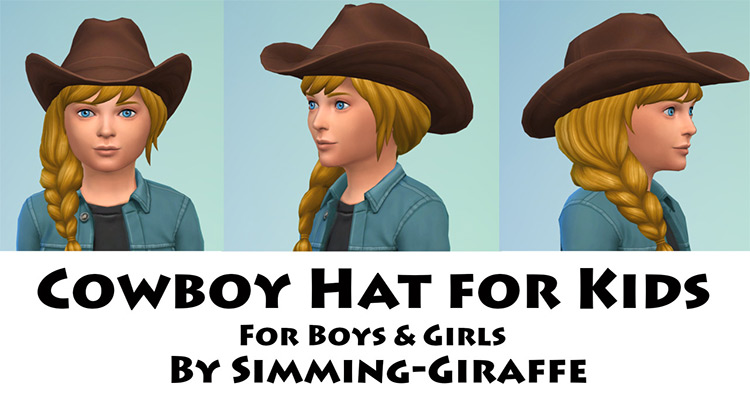 Cowboy Hat for Kids for Sims 4