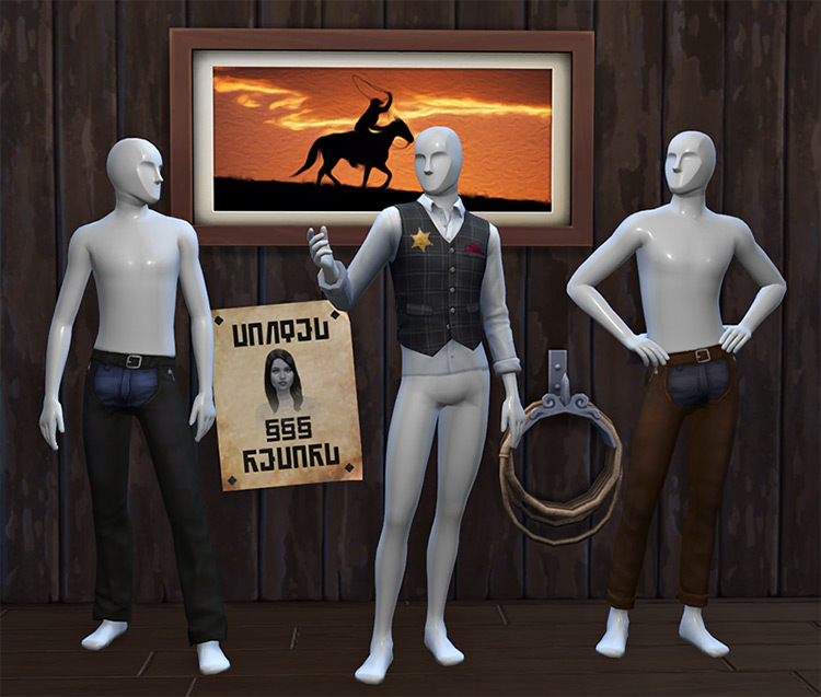 Old West Stuff Sims 4 CC